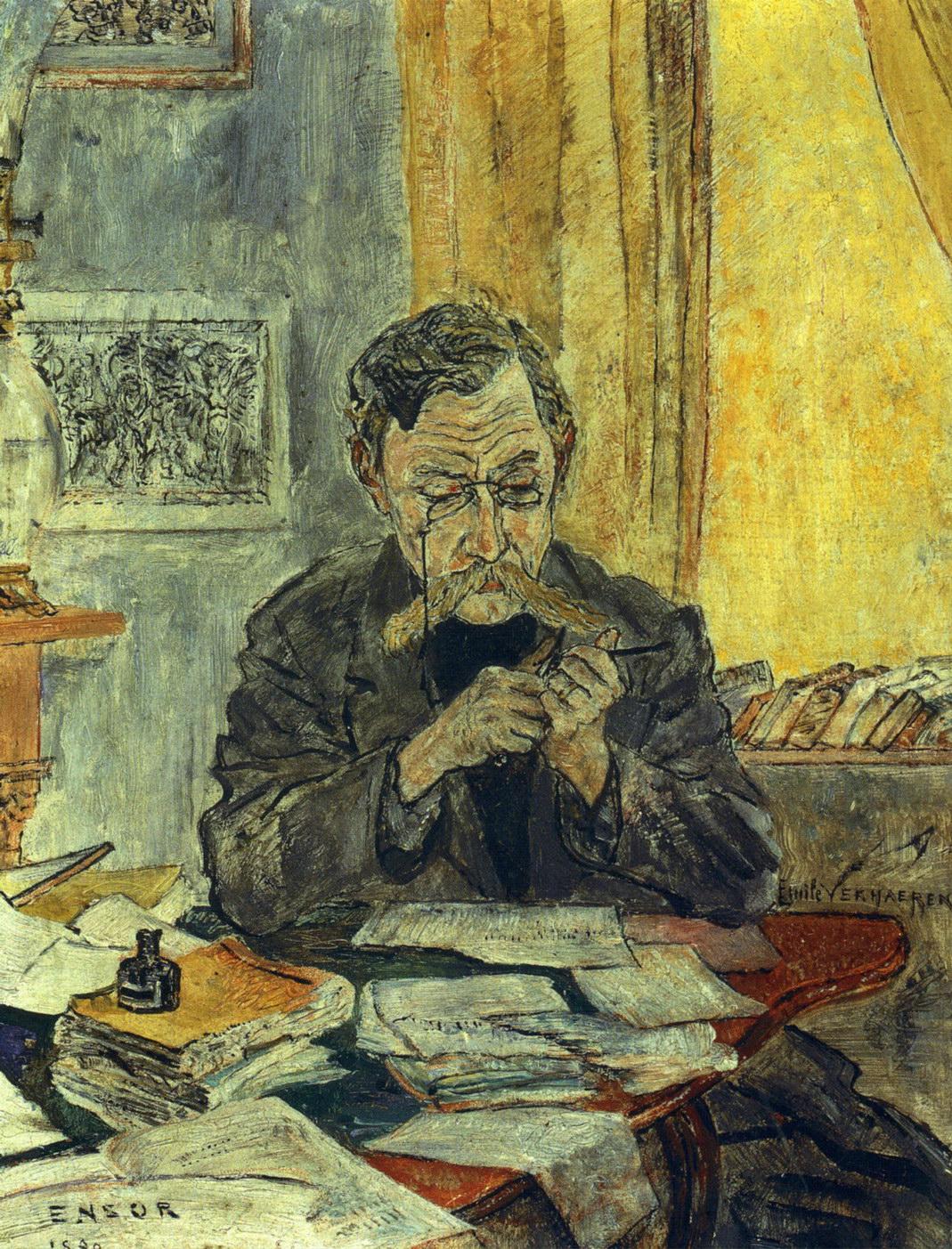1890-James-Ensor-Portret-Emile-Verhaeren-