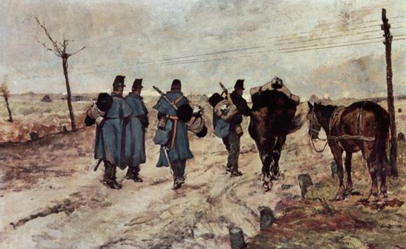 un défilé de soldats